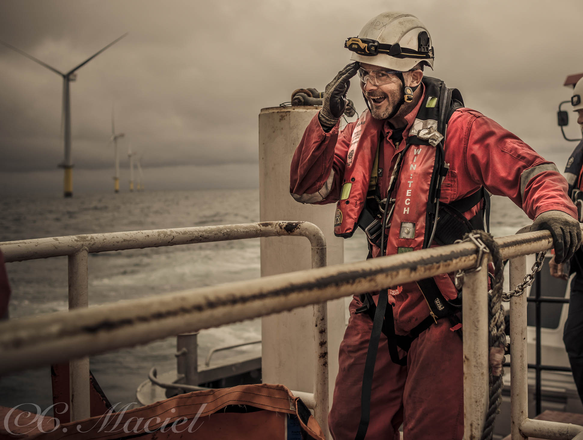 Photoshoot for HSSE Offshore services